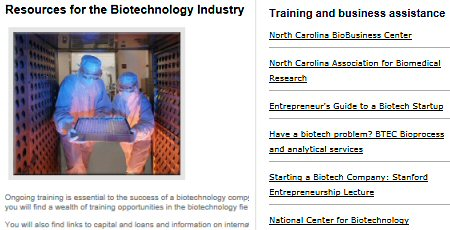 Click to see Caldwell Co. EDC's Biotech page