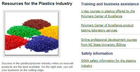 Click to see Caldwell Co. EDC's Plastics Industry page